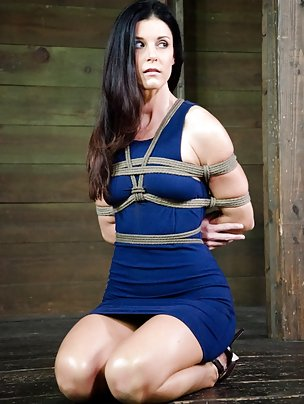 Tightly bound, stripped, trained and teased