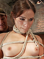 Roped, face fucked, strapon fucked, ass fisted