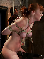 Sexy redhead roped, milked, tortured and vibed