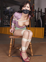 Chair-bound, otm-gagged, exposed
