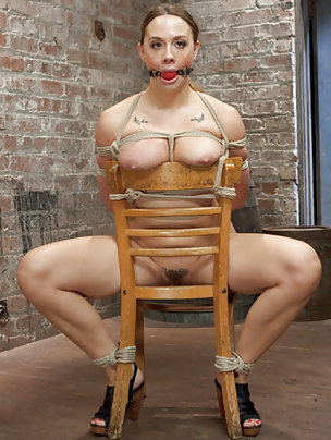 Roped to a chair, humiliatingly trained and teased
