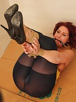 Rani is bound, ball-gagged, tit-grabbed